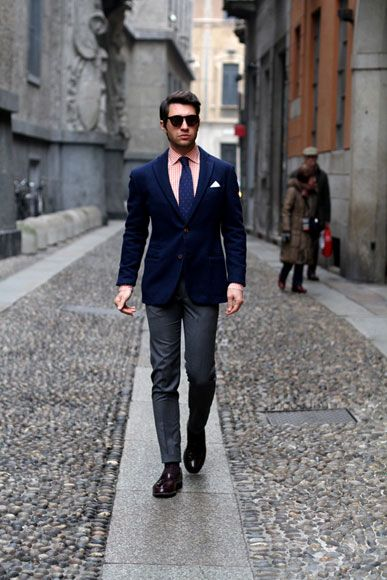 Mens street style: tailored suit with skinny leg pants | - A Man's ...