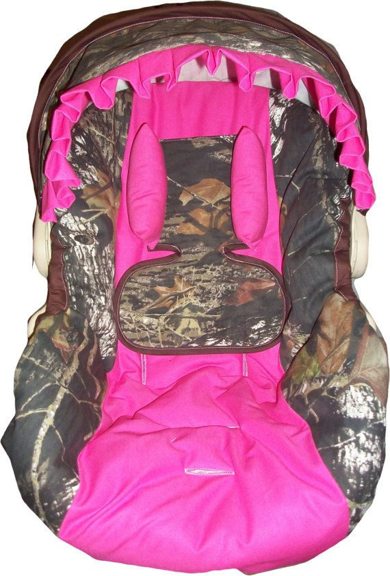 Mossy Oak Camo And Hot Pink Infant Car Seat By Dreammakersdesign 8500