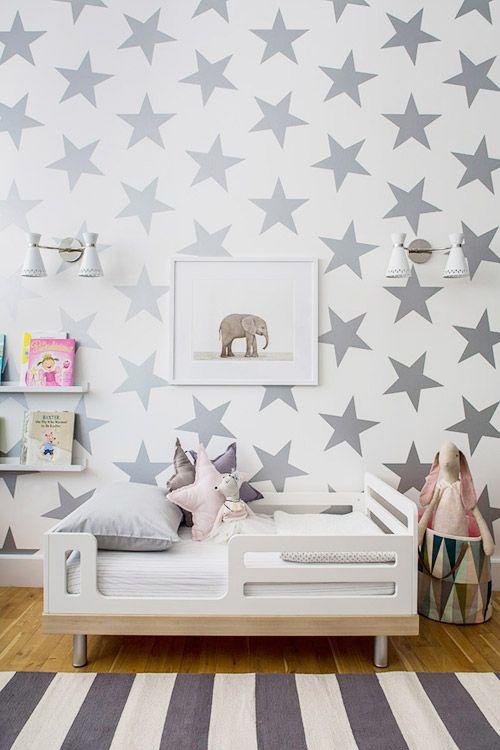 Dormitorio infantil con estrellas habitacionesparani os for Cuartos decorados con estrellas