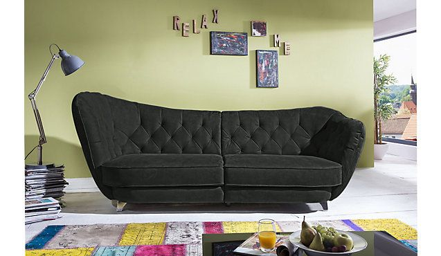 Megasofa blau  Megasofa Woodfort im Chesterfield-Style #BigSofa | For the Home ...