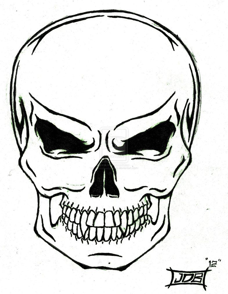 Tribal Skull Tattoo By Jamesdamionblack D55iafz Jpg 786 1 016 Pixels Simple Skull Tribal Skull Skull Stencil