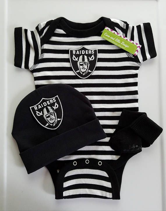 Oakland Raiders baby boy outfit  Oakland Raiders baby boy gift ... 504fe184e
