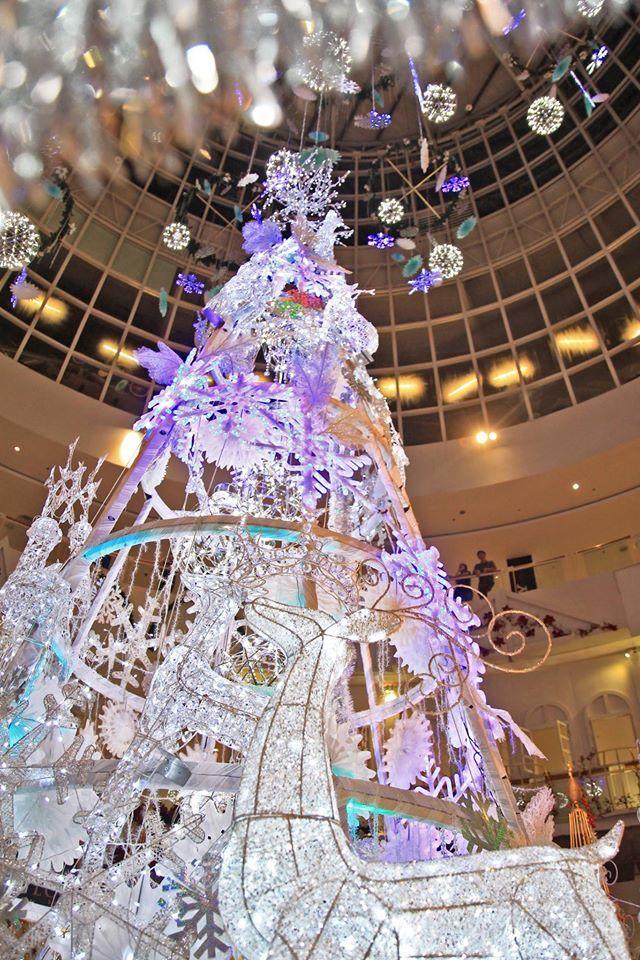 Queensbay Mall_2015_4 クリスマスツリー, 光のアート, クリスマス