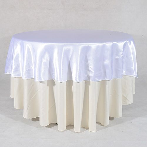 108 Inch White 108 Satin Round Tablecloths Round Tablecloth Table Cloth Wholesale Linens