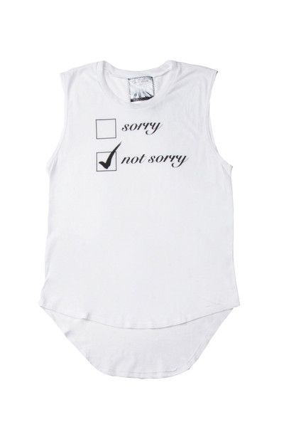 Sorry Not Sorry Tank Top