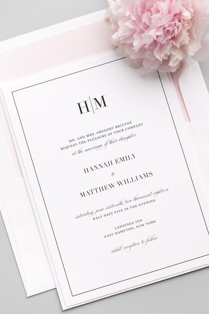 Glam Monogram Wedding Invitations   Member Board: Stationery ...