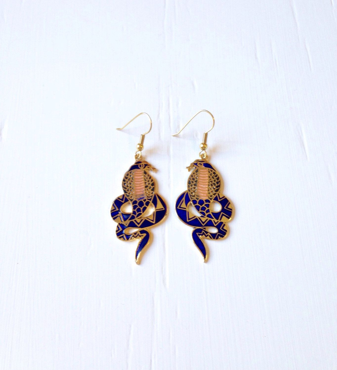 Cobra earrings    Etsy shop https://www.etsy.com/listing/253091367/10-off-sale-vintage-cloisonne-cobra
