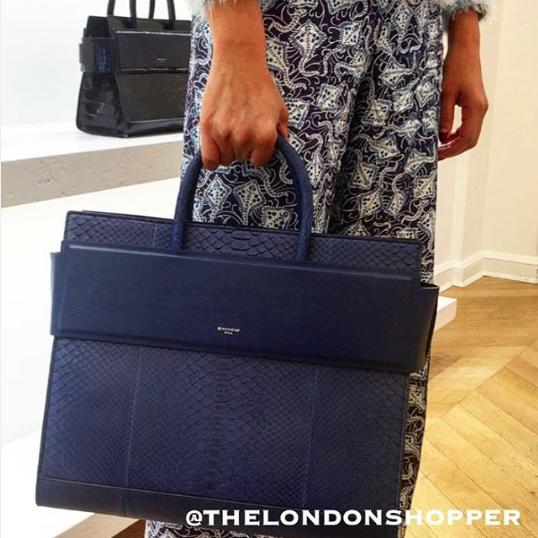 Givenchy Blue Python Horizon Large Satchel Bag   Arm Candy ... 94fbc4c3fb
