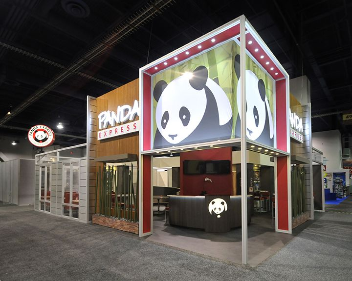 Exhibition Booth Design Las Vegas : Panda booth built by exhibit fair international las
