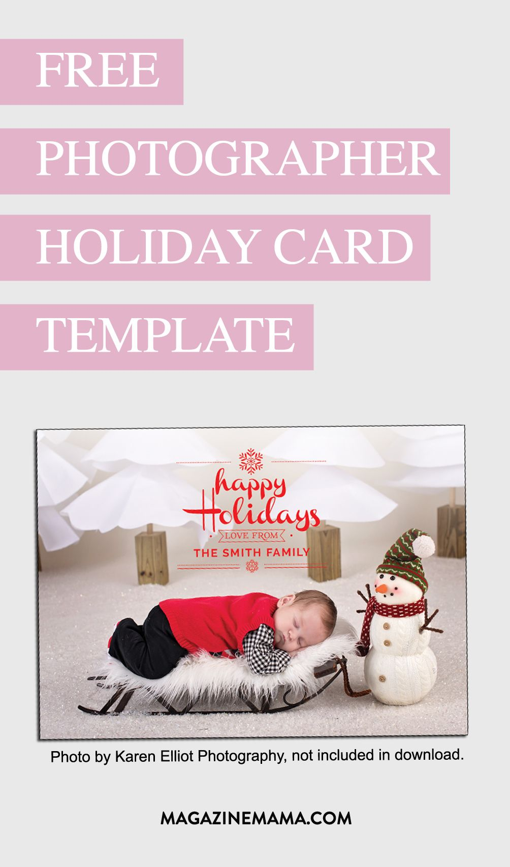 Download your FREE photographer holiday template. Use to sell custom ...