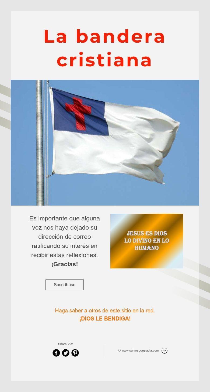 La bandera cristiana | La Bandera del Cristiano | Pinterest ...