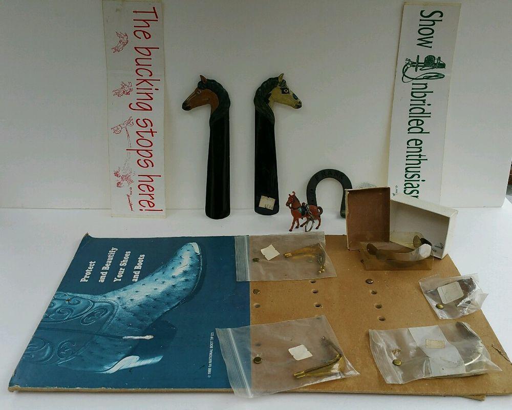 Bumper sticker design tips - Lot Horses Shoe Horn Key Chain Bumper Sticker Boot Tips Horseshoe