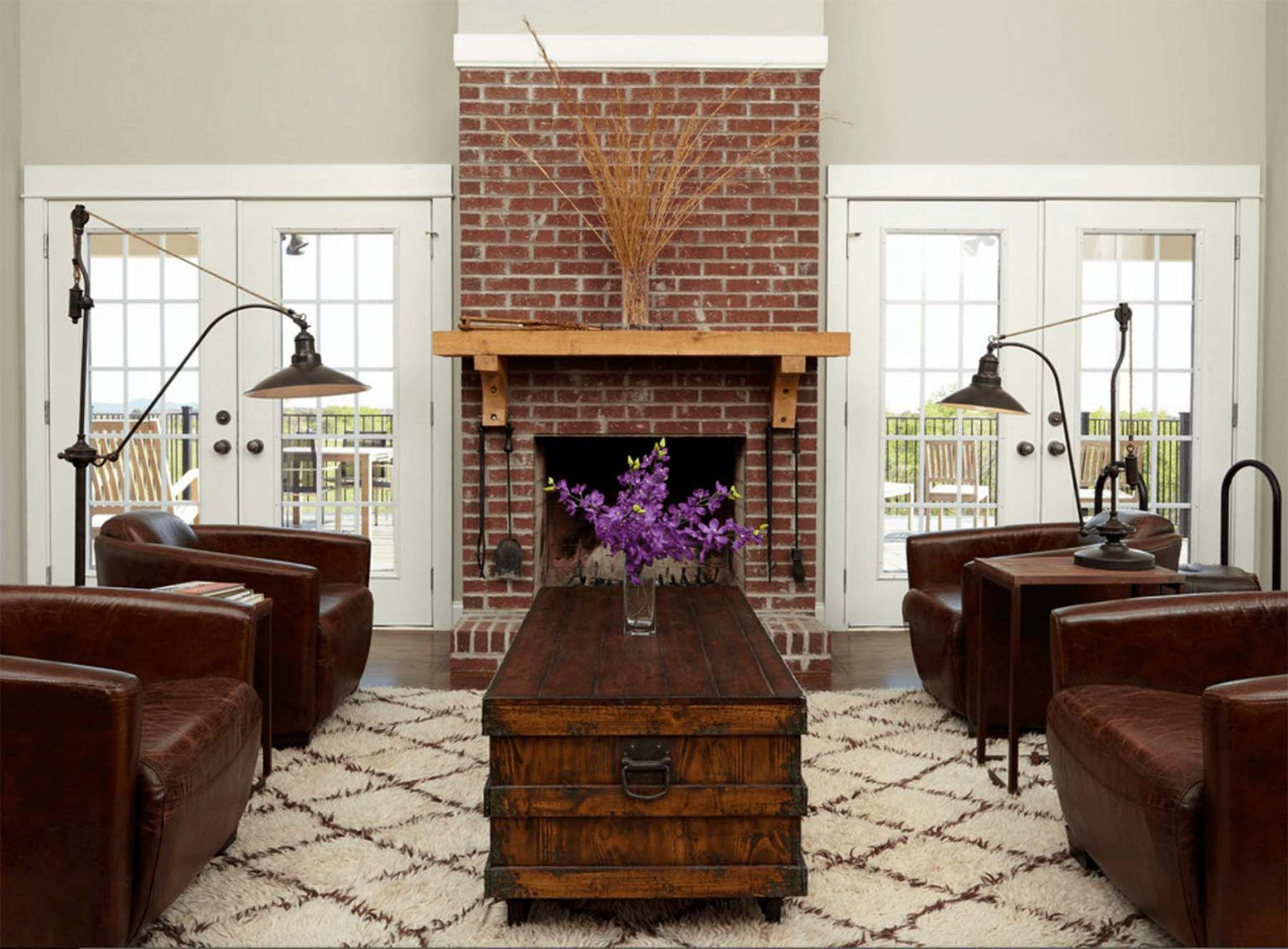 Red Brick Fireplace Ideas | Beautiful Fireplace Designs in ...