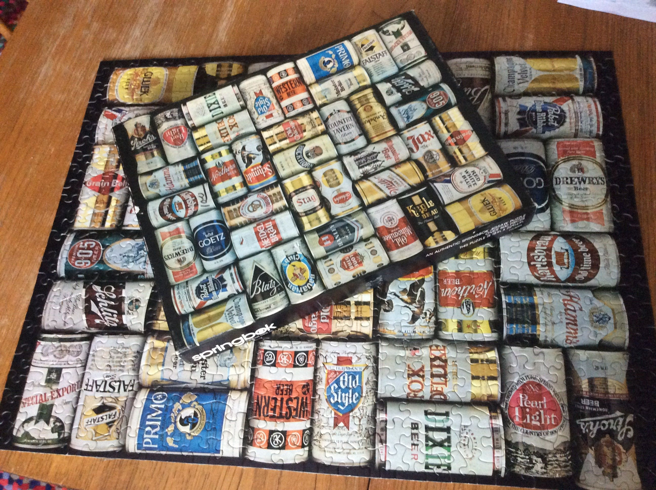 Vintage Beer Can Puzzle COMPLETE | Vintage Toys and Games