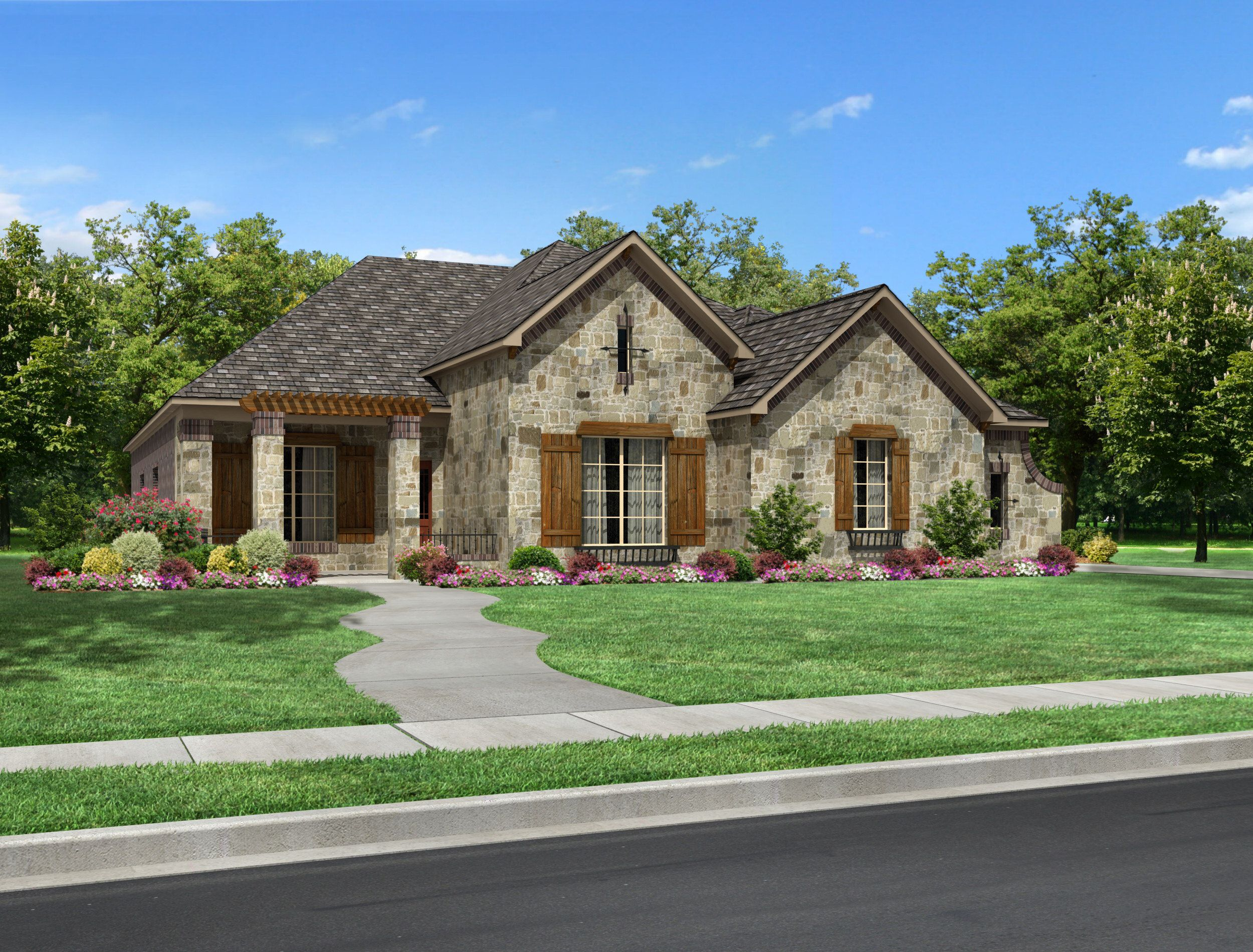 Villa Marcello Plan 3591 square foot single story home with 4