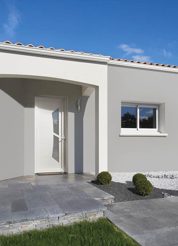 Porte d\u0027entrée PVC Zilten modèle Milky 1 idées de porte d\u0027entrée - pose d une porte d entree