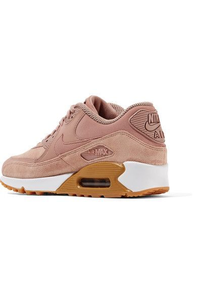 Nike - Air Max 90 Suede-trimmed Leather Sneakers - Antique rose