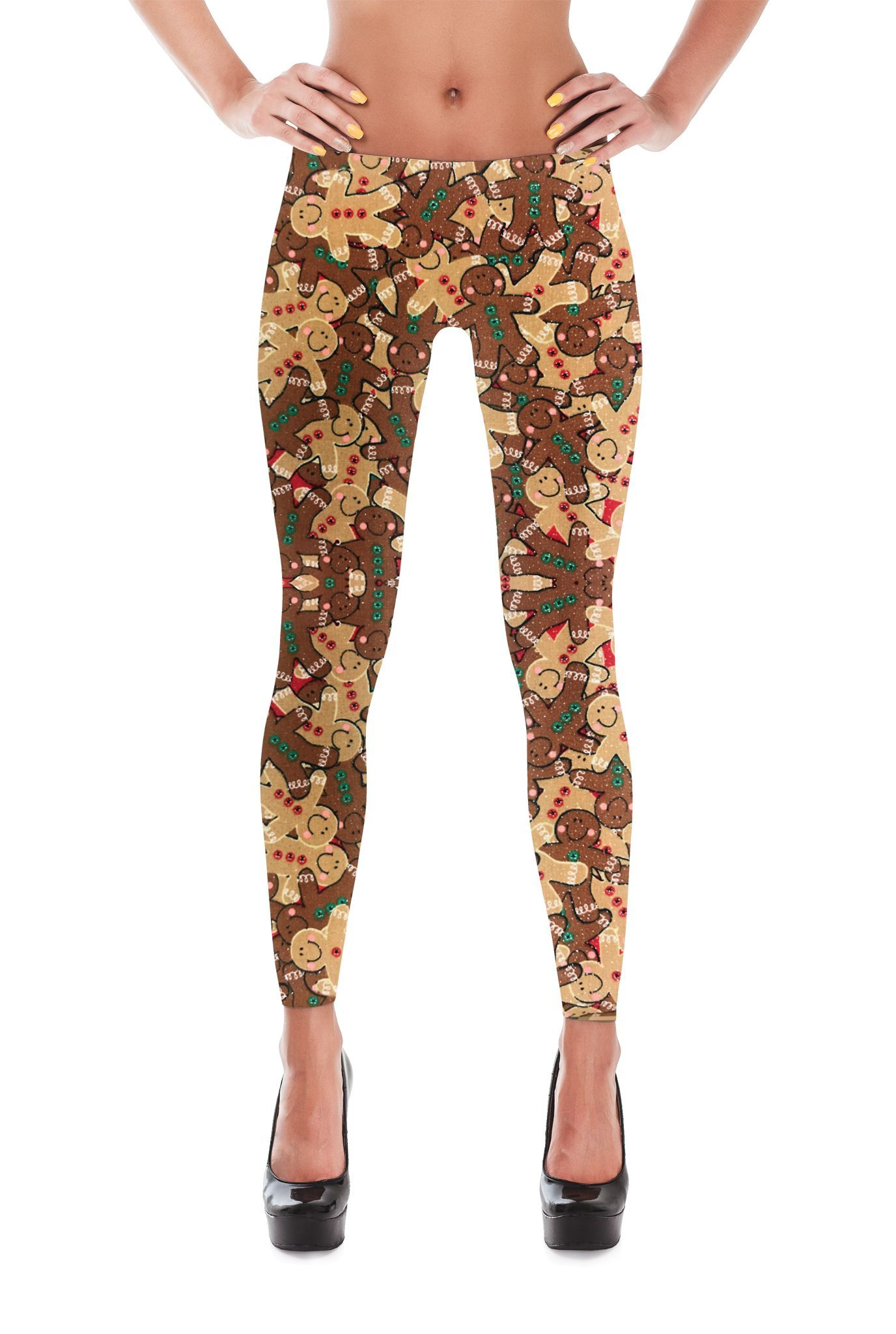 2874fcfca28f11 Gingerbread Man Leggings - Christmas Leggings - Womens Leggings - Yoga  Leggings - Winter Leggings - Christmas Gift - Gifts - Candy Canes