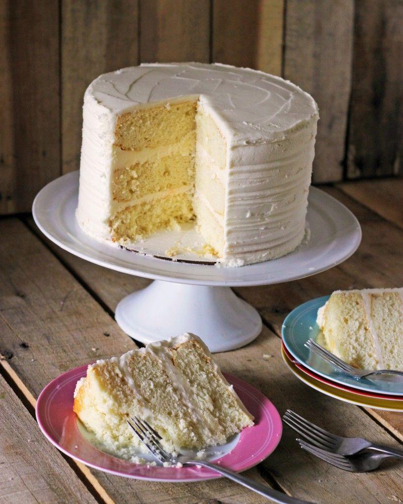 White Sour Cream Cake Recipe Cakejournal Com Sour Cream Cake Cake Recipes Cake Mix Recipes