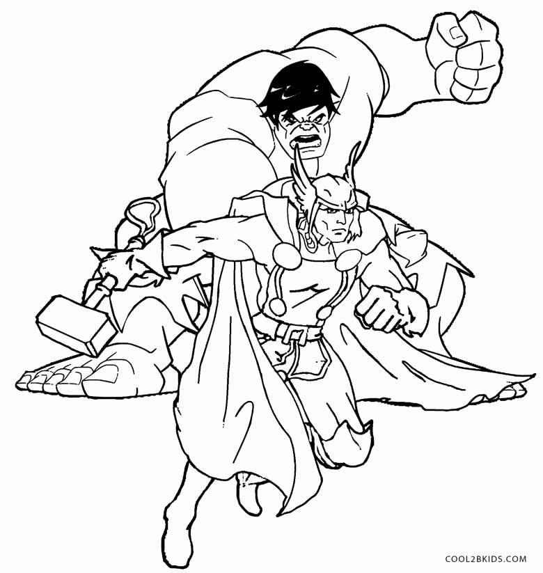 Thor Coloring Pages Coloring Pages Thor Coloring Pages For Kids