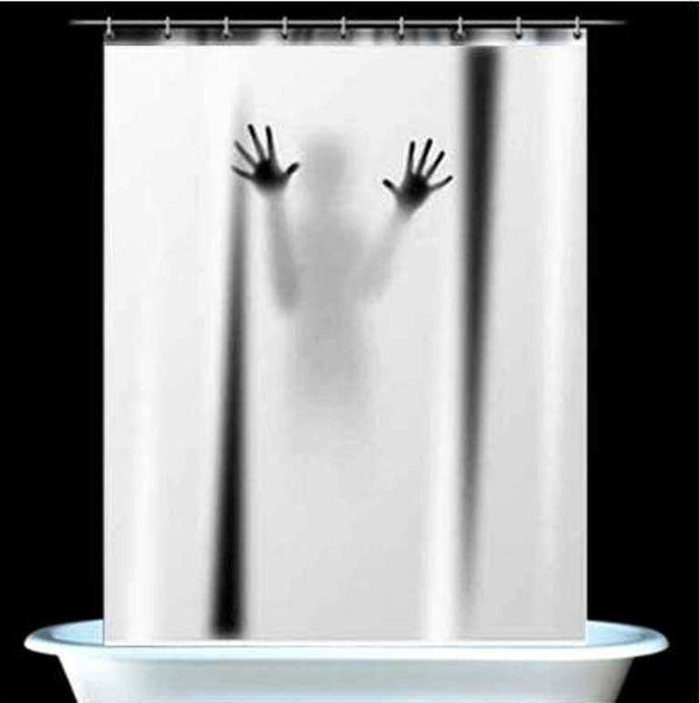 Hand Shadow Print Shower Curtain Scary Shower Curtains Psycho