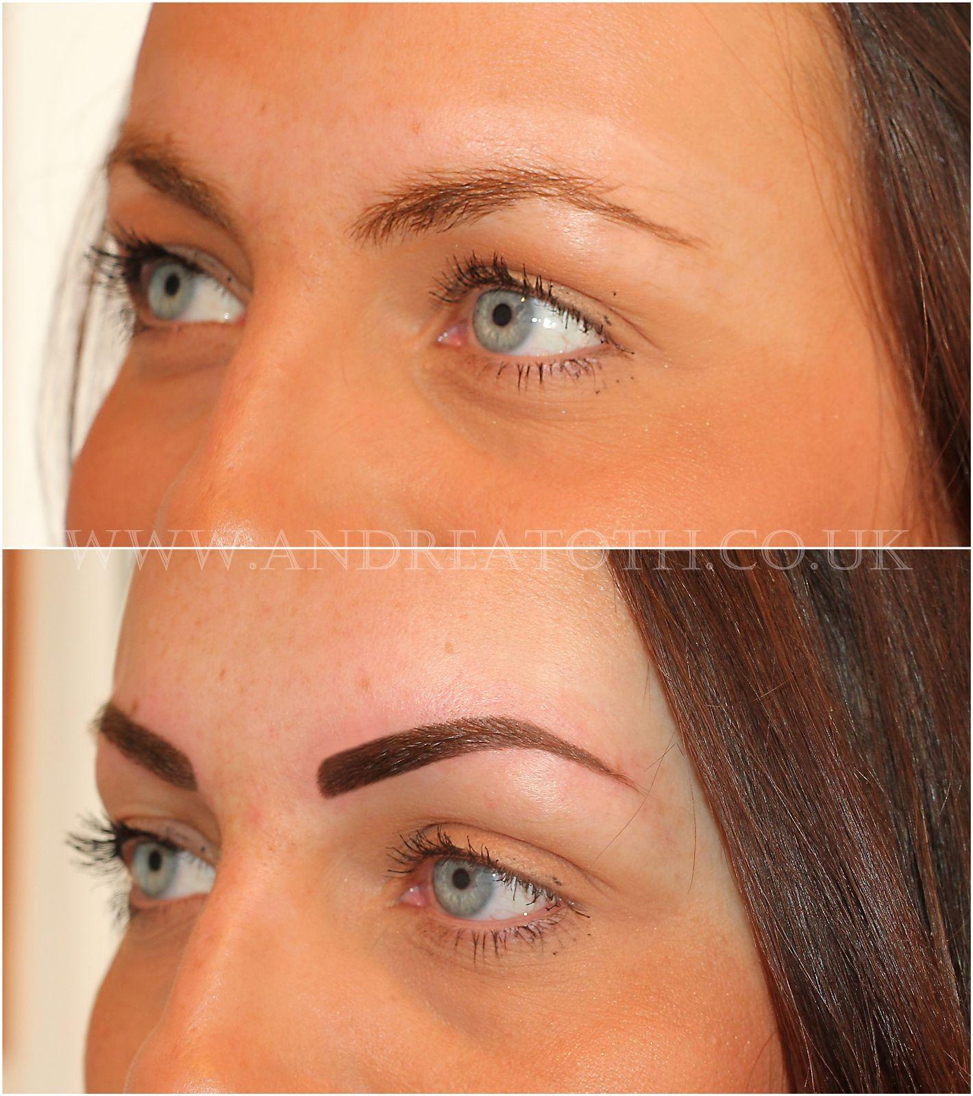 Powder Eyebrow Semi Permanent Makeup permanent makeup in
