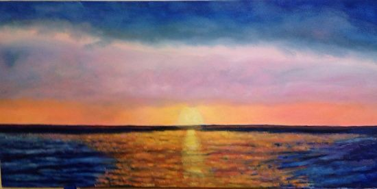 """sunrise in paradise by Angela Van Every Oil ~ 24"""" x 48"""""""