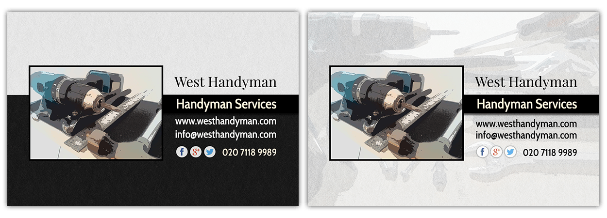 Business card design for handyman in west london visual work business card design for handyman in west london colourmoves