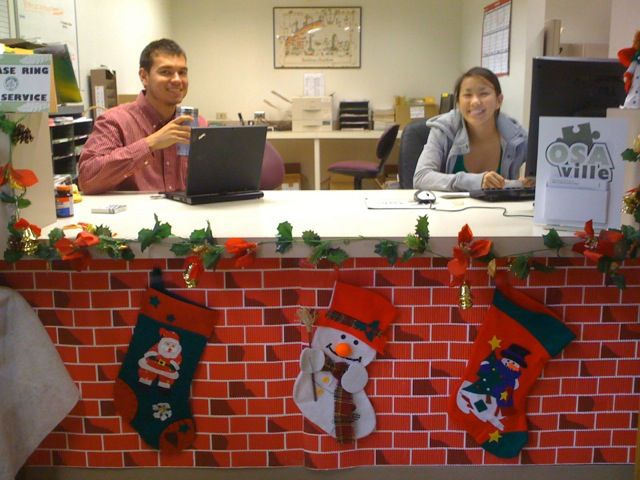 Christmas Decorated Doors Office | Office Christmas