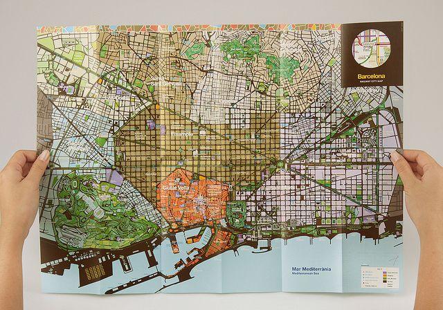 Barcelona City Map Back