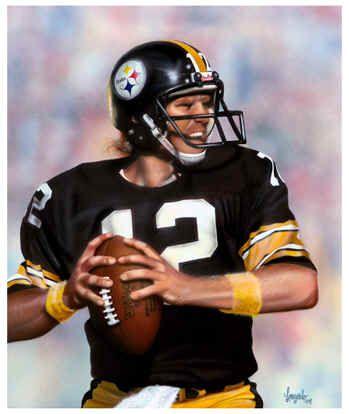 8aa9f117d Terry Bradshaw  12 Pittsburgh Steelers NFL Football Art Print ...