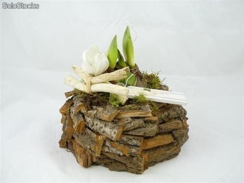 maceta corteza de troncos maceteros reciclados On adornos rusticos reciclados