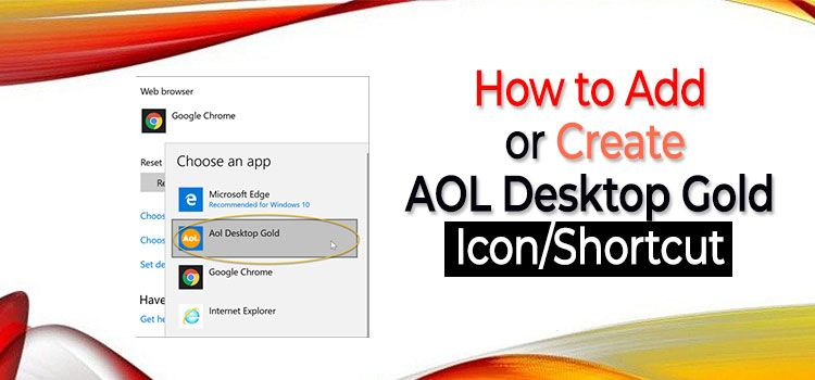 How to Add or Create AOL Desktop Gold Icon/Shortcut
