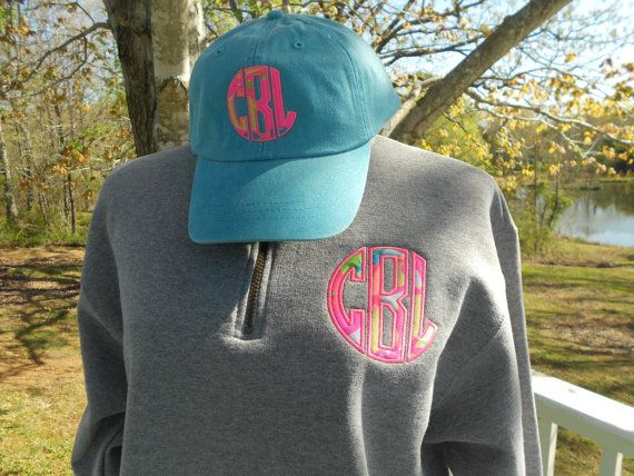 Preppy monogrammed baseball hat with Lilly Pulitizer, Greek Embroidery Available
