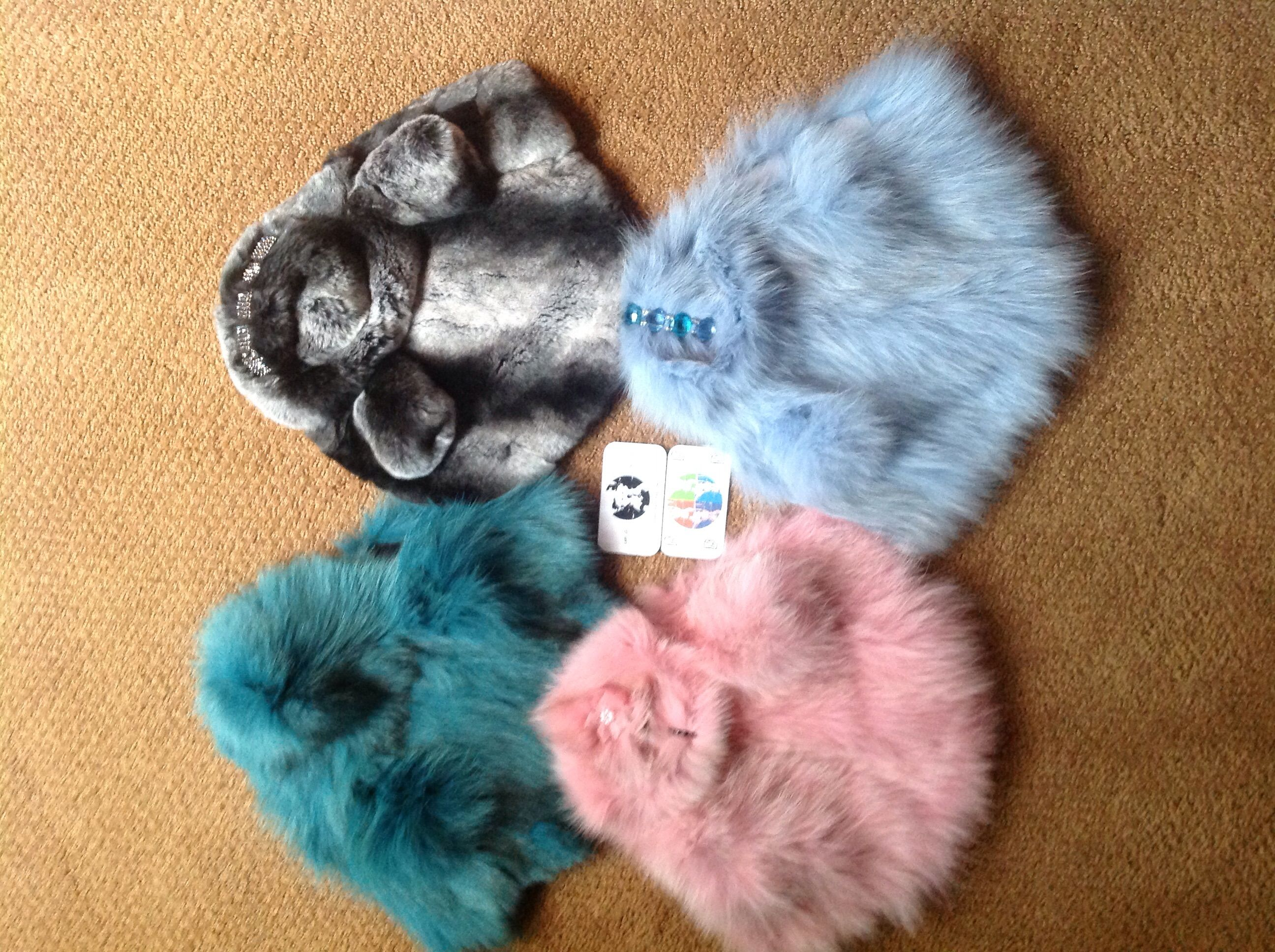 DWP's FUR COATS FOR DOGS. (6 stock sizes/6 fur types or custom order)  Keep them WARM all Winter long! www.dwp-dwp.com