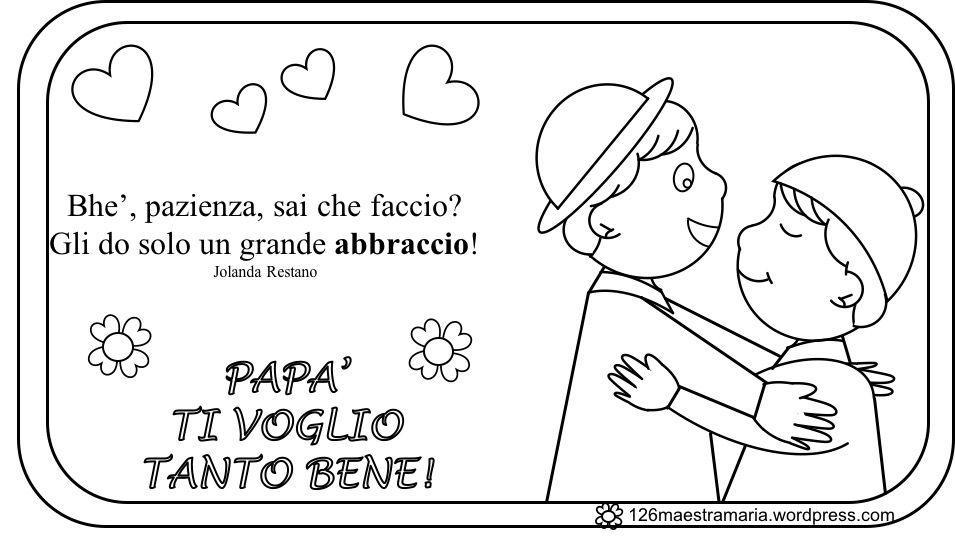 Disegni Da Colorare E Stampare Per Il Mio Papa.Festa Del Papa Poesia Con Disegni Festa Del Papa Papa E