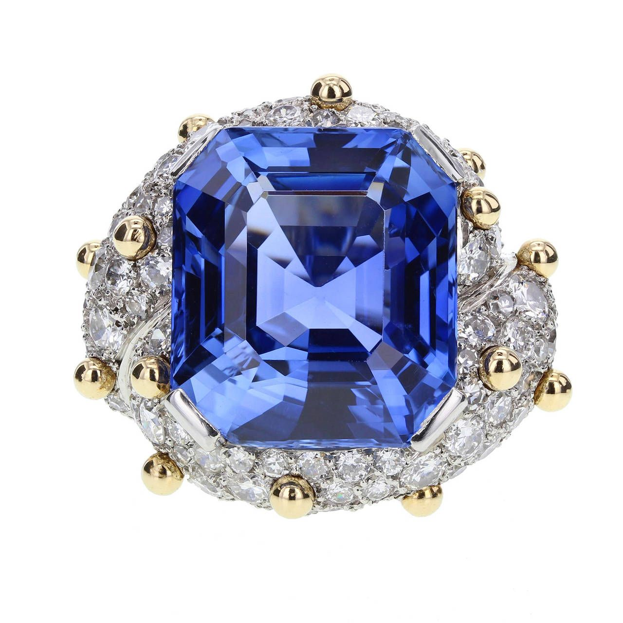 Jean Schlumberger Henri Picq Ceylon Sapphire Diamond Ring
