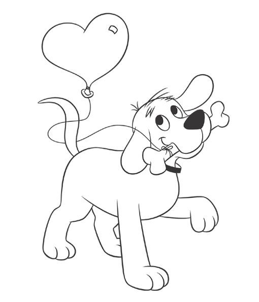 Coloring Page | Valentine\'s Day | Dog | Pets | Pet Coloring pages ...