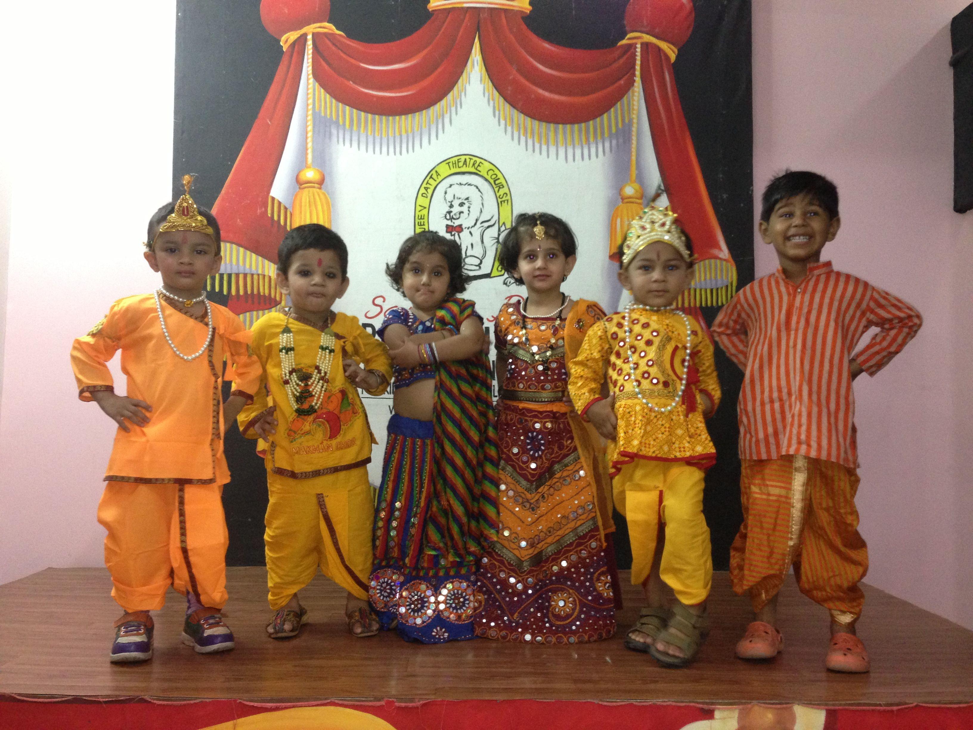 Our Kids Dressed As Radha Krishna Kids Dress Lord Krishna