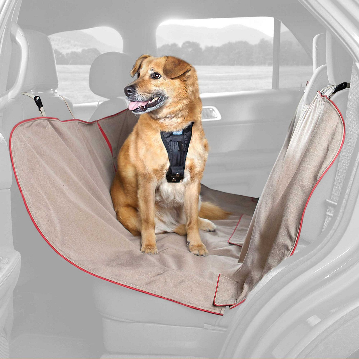 Kurgo Heather Hammock Tan Dog Car Seat Cover Dog Car Dog Car