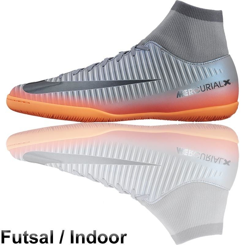 Football Nation - Nike Mercurial X CR7 Futsal Shoes (IN - Silver/Orange)