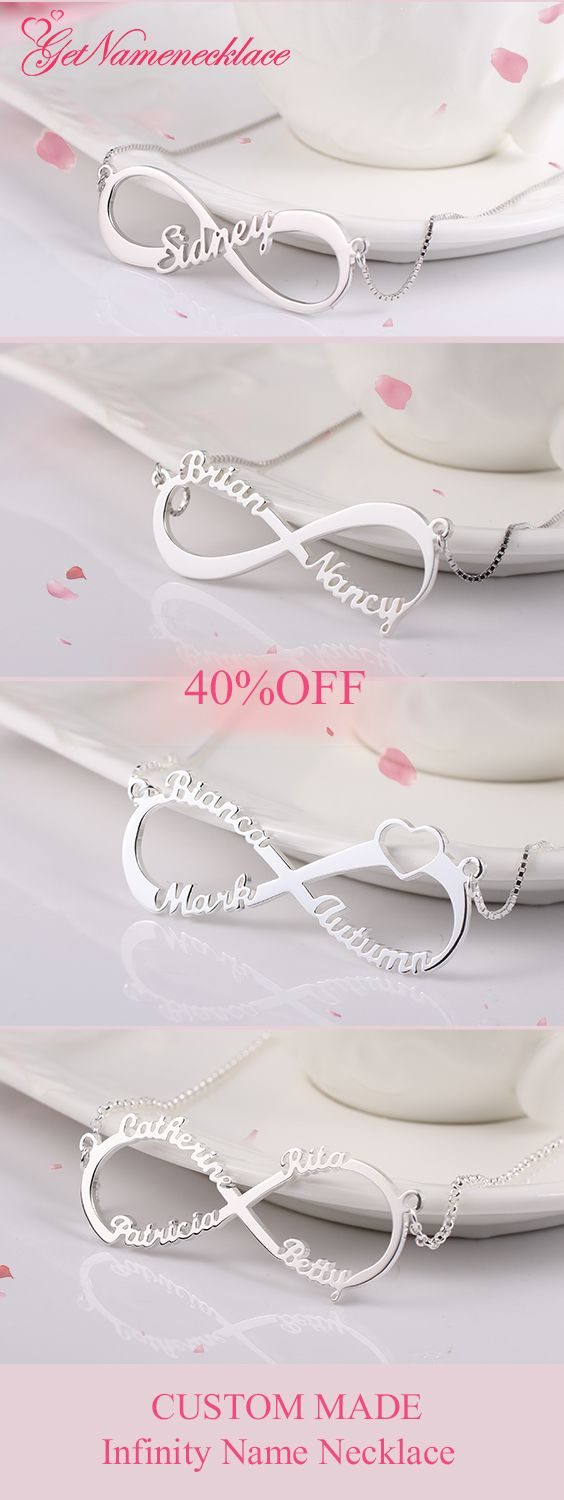 Buy Customized Four Fonts Infinity Jewelry at GNN, Up to 40% Off