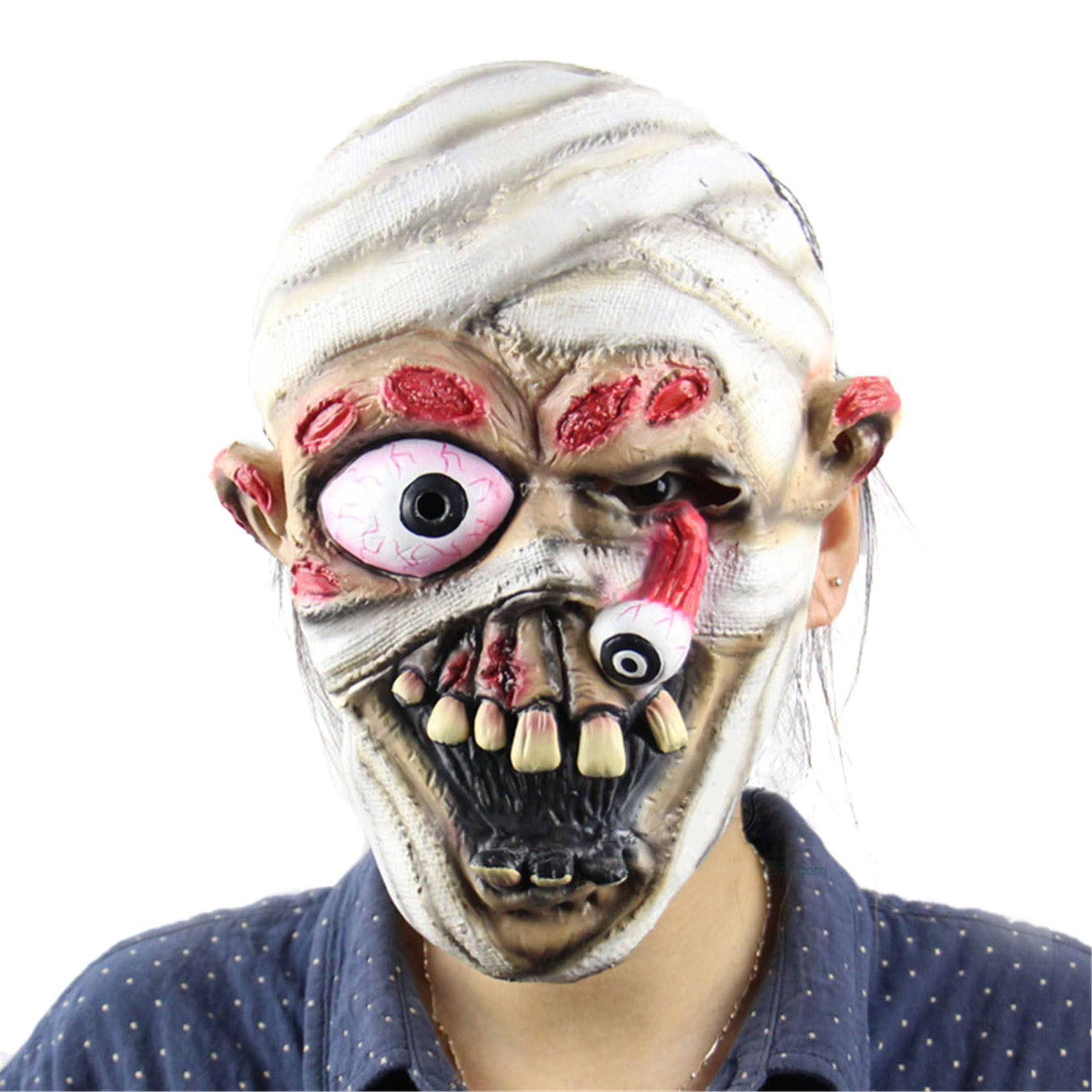 2016 halloween horror masks adult costume mummy latex party scary