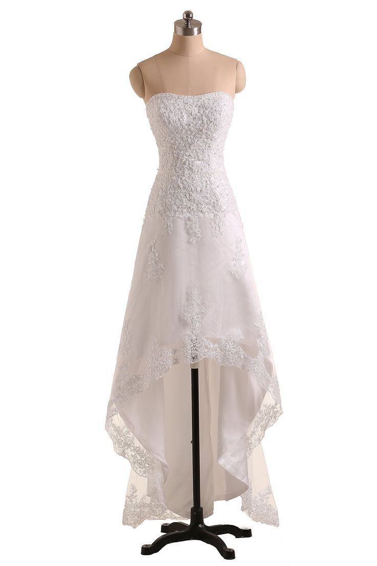 Sunvary high low lace bridesmaid dresses beach birdal wedding gowns