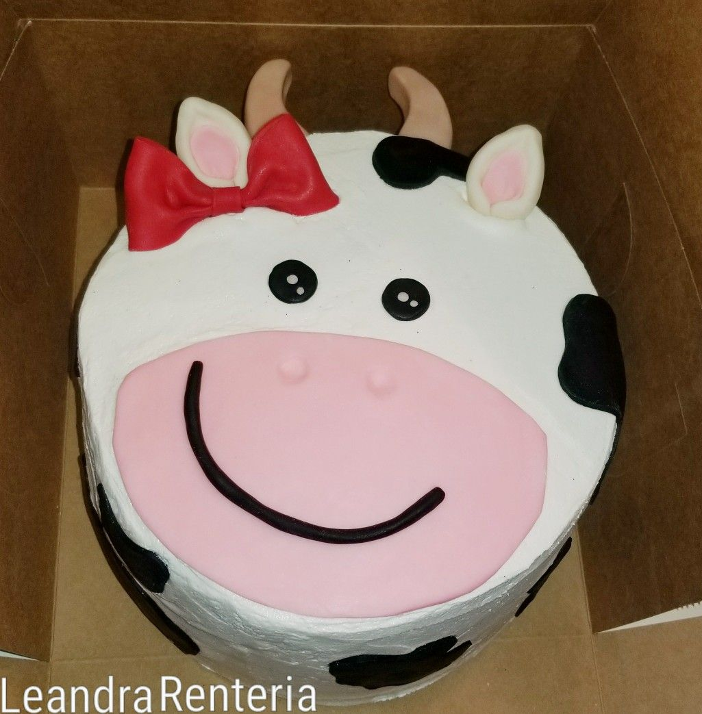 Prime Buttercream Cow Cake With Images Cow Cakes Cow Birthday Cow Funny Birthday Cards Online Overcheapnameinfo