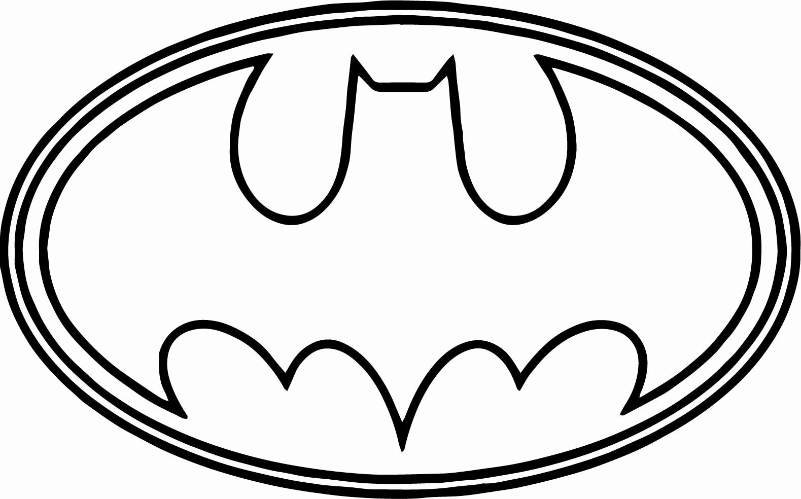 Batman Symbol Coloring Page Best Of Batman Logo Outline Coloring