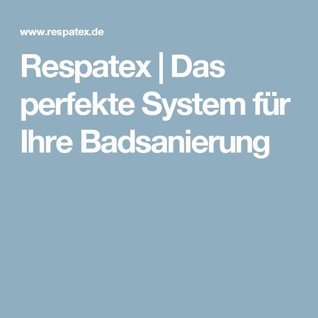 Respatex Das Perfekte System Fur Ihre Badsanierung Wandverkleidung Bad Badsanierung Sanierung