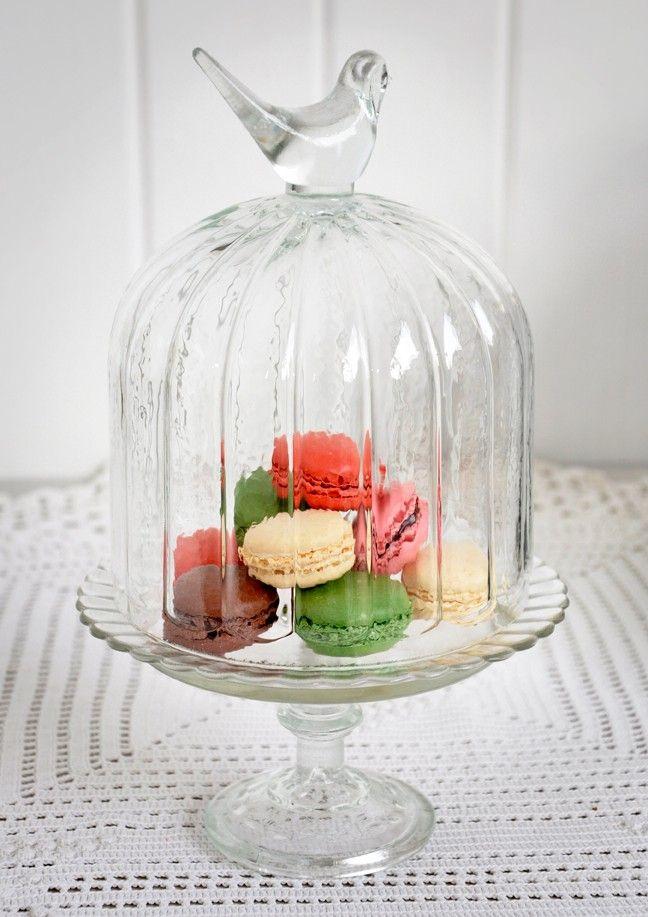 Birdcage cloche cake stand
