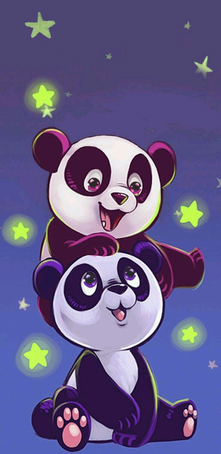 Pin By Alamri On Desenhos De Amor Panda Artwork Panda Bears Wallpaper Panda Art