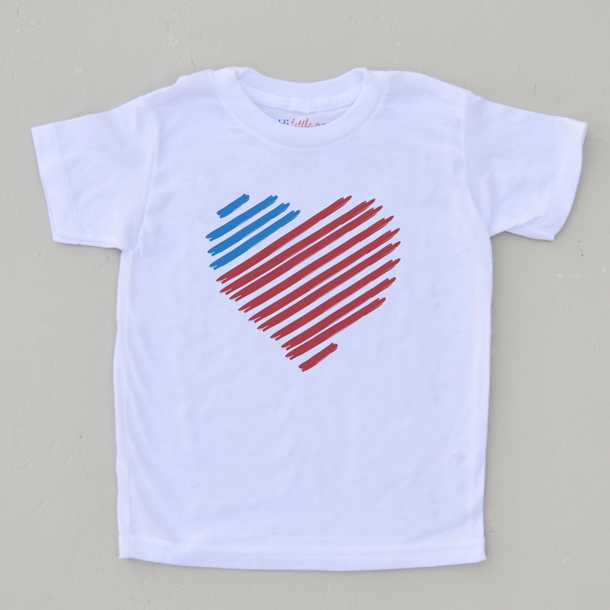 Red, White, and Blue Heart T-shirt   Blue heart, Shirts, T ...